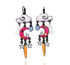 Boucles d'oreilles histoire de lapin ♥ nuage rose & lune ♥ lol bijoux ♥ Paris