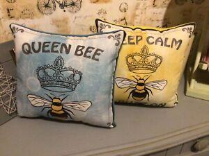 Queen Bee decorative  throw pillows - set of 2