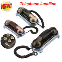 Telephone Landline Wall Mounted With Phone Cable Buttom Light Retro For Hotel