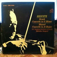 Heifetz -Bruch Concerto Minor - Mozart Concerto - RCA Red Seal vinyl LP album
