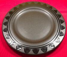 """Pfaltzgraff Midnight Sun Black Dinner Plate 10 1/2"""" Diameter Triangle Shape Trim"""