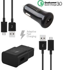 Adaptive Fast Qc 3.0 Car+2.0A Home Charger with 2 x Cables for Micro Usb Phones