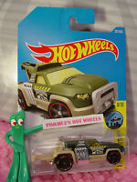 REPO DUTY #261✰green/beige truck;TOWING 24✰CITY WORKS✰2017 i Hot Wheels case L/M