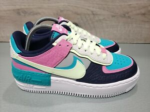 Nike Air Force 1 Shadow SE Grey | Aqua | Pink [CK3172-001] Women's Size 8