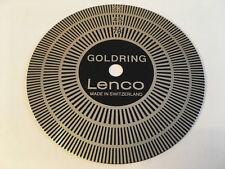GOLDRING LENCO L75/78/69/72 VINTAGE SWISS TURNTABLE STROBE