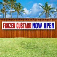 FROZEN CUSTARD NOW OPEN Advertising Vinyl Banner Flag Sign LARGE HUGE XXL SIZE