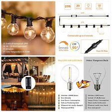【Dimmable&Timer】Outdoor Garden String Lights LED,27FT G40 OxyLED 28 LED Bulb