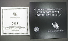 2013 America The Beautiful Mount Rushmore South Dakota Mint Box/COA No Coin