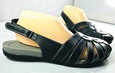 Baretraps Sandals Womens Black Austin Closed Toe Slingback Shoes Size 9.5 W