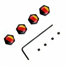 4x German Germany Flag Anti Theft Car Auto Wheel Tire Valve Stem Air Cap Cover