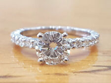 2.15Ct Round Cut Moissanite Diamond Solitaire Engagement Ring Set 14K White Gold