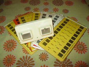Vintage Lot LESTRADE 8 CARTES STEREOCARTES + STERESCOPE BEIGE Stereoscopie