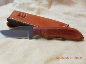 ANZA  HANDMADE FIXED  BLADE KNIFE WOOD HANDLE #895 MODEL WK