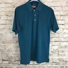 Grand Slam Performance Teal Pin Striped Golf Polo Short Sleeve Men's Size Small