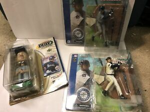 Mlb Lot Of 3 Ichiro Figurines New In Box