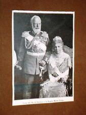 Re Luigi III di Baviera e la Regina Maria Teresa nel 1918