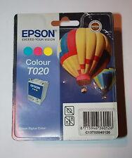 GENUINE ORIGINAL EPSON T020 COLOUR INK CARTRIDGE FOR STYLUS 880- DATE OCT 2011