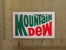 "Vintage Mountain Dew sticker decal 4""x2.4"""