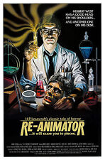 RE-ANIMATOR Movie Poster 1985 H.P. Lovecraft