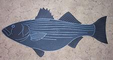 Long Island Door Mat: Striped Bass, Sea Bass, Saltwater Fish Doormat 1st Quality