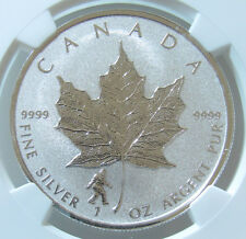 Canadian 2016 BigFoot Privy Canada S$5 Maple Leaf Reverse Proof NGC PF69