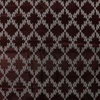 Tessuto al metro per arredamento e tendaggi h.280 Raso Marrone Jacquard Venezia