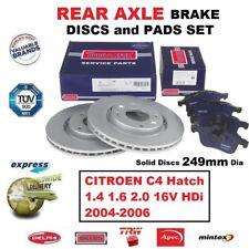 Pastillas de Freno Trasero + Discos Citroen C4 Hatchback 1.4 1.6 2.0 16VHdi