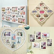 Family Love 10 Multi Aperture Photo Picture Frame Holds 6''X4'' Photos Black
