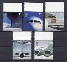 s3140) UK GREAT BRITAIN 2002 MNH** Airliners 5v