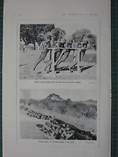 1916 WWI WW1 PRINT ~ NATIVE TROOPS DRILLING DURING TRAINING ~ FORTIFIED POSITION