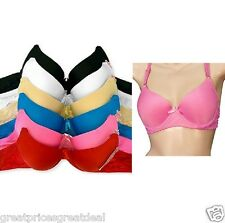 6 PLAIN DEMI SEXY BRAS BR4082PL Multi Color UNDERWIRE Mamia 32 34 36 38 40 B C