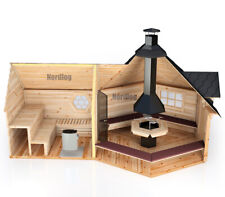 Scharniere,goldfarbig karibu Türband 2 ESG,6 +8 mm,Sauna,Saunatür,auch weka