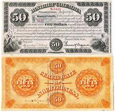 1873 $50 Washington, DC. Baby Bond Scrip ORNATE!