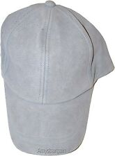 New 2 Tone Suede Leather cap Baseball cap leather hat for man and woman BNWT