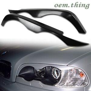 1998-2002 Headlight Eyelids Fit FOR BMW E46 2D Coupe Pre-LCI Unpainted