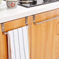 Towel Rack Bar Hanging Holder Hook Over Door Bathroom Kitchen Cabinet Cupboard