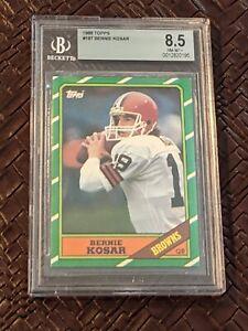 1986 Topps Football Bernie Kosar ROOKIE RC #187 BGS 8.5 Fresh Grade!