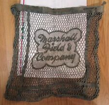 ANTIQUE MARSHALL FIELD & COMPANY EARLY SHOPPING FASHION BAG GREEN RARE CHICAGO