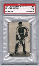 1952 St. Lawrence Sales Hockey Card Montreal Royals Ed Litzenberger Graded PSA 7