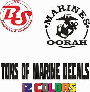 "6"" MARINE USA Semper Fi Oorah Military Veteran United States Vinyl Decal noBS"