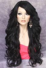 Long Off Black Wig What a Bombshell! Goregeous wavy Heat Safe  WBVA 1B