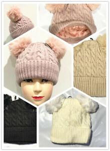 Fashion Women Grils Beanie Wool Marc Jacobs Knitted Pom Pobble Hat Warm Winter