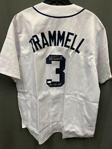 """Alan Trammell """"84 WS MVP"""" Signed Tigers Jersey AUTO JSA Sticker Only Sz XL"""