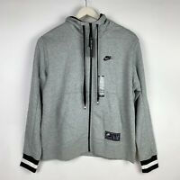 Nike MEN'S Sportswear NIKE AIR Full-Zip Hoodie Grey Black SIZE L BRAND NEW