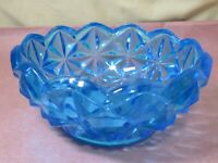 Vintage Indiana Glass Monticello Blue Bowl