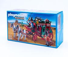 Playmobil 4399 Postkutsche Post Kutsche Pferde Western Cowboy Kutscher 2 Figuren