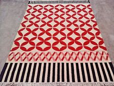 New Turkish Handmade Fine Usak Oushak Kilim Rug 5.6x8.6 ft