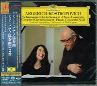 Schumann Chopin Piano Concerto Argerich Rostropovich Japan SACD w/OBI NEW/SEALED
