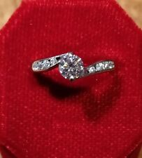 18ct White Gold Diamond Solitaire With Diamond Shoulders Centre Stone 0.33ct Apx