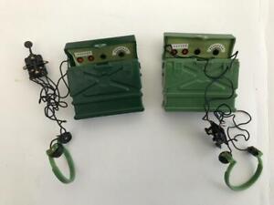 Vintage Action Man 2 Field Radios Dark and Light Green